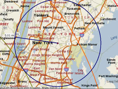 Easy Moving Labor  Map for Bronx , NY