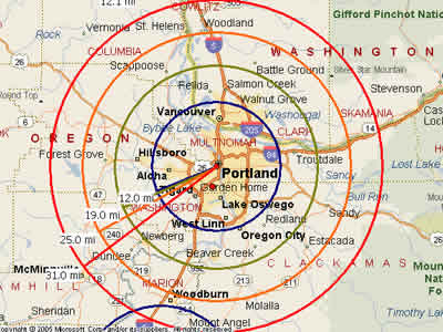 Lake Oswego Zip Code Map.Easy Moving Labor Map For Portland Or Moving Labor