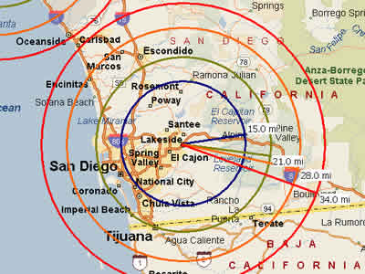 Easy Moving Labor  Map for San Diego Moving Labor