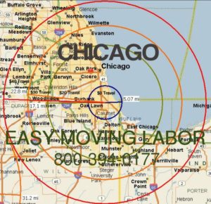 Load and unload your moving truck with Chicago moving labor.