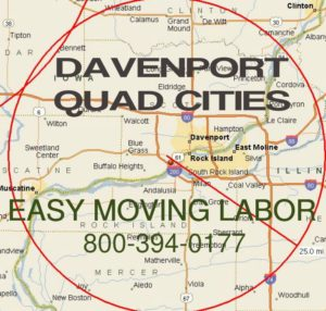 Davenport loading and unloading moving labor.