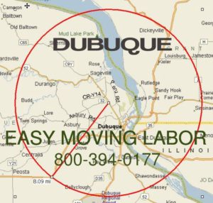 Dubuque moving labor for loading and unloading.