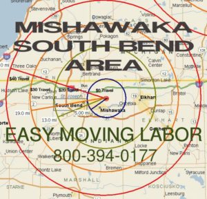 South Bend loading and unloading moving labor.