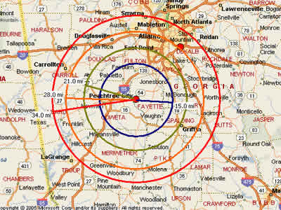 Peachtree Georgia Map.Easy Moving Labor Map For Peachtree City Ga Moving Labor