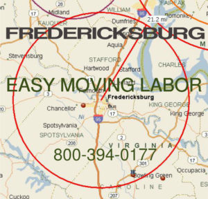 Hire pro moving help in Fredericksburg.