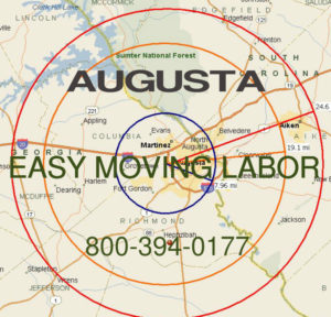 Hire pro Augusta moving help to load and unload for your move.
