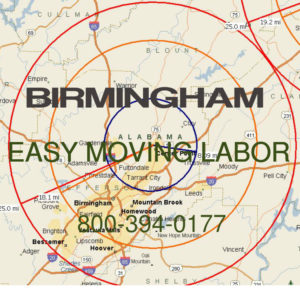Hire Birmingham moving labor  help.