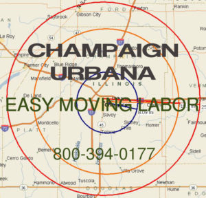 Hire pro Champaign moving help to load and unload for your move.