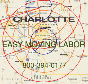 Hire local Charlotte moving labor help.
