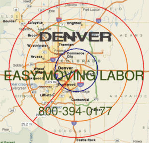 Hire pro Denver moving help to load and unload for your move.