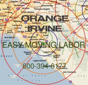 Hire pro Irvine moving help to load and unload for your move.
