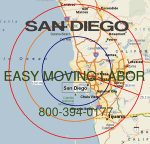 Hire pro San Diego moving help to load and unload for your move.