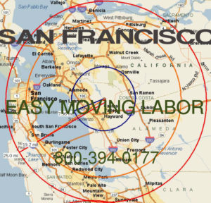 Hire pro Bay Area moving help to load and unload for your move.