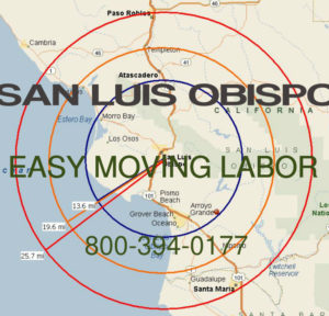 Hire pro San Luis Obispo moving help to load and unload for your move.